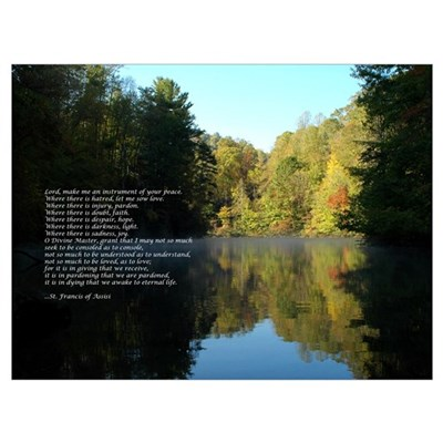 Reflections - St. Francis Prayer Poster