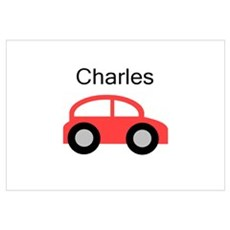 Charles - Red Car Poster