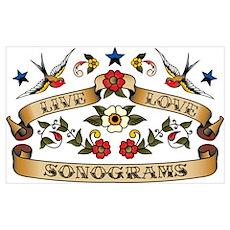Live Love Sonograms Poster