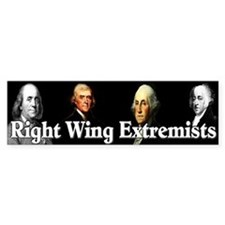 """Right Wing Extremists"" Car Sticker"