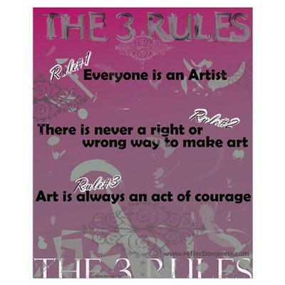 The 3 Rules Canvas Art