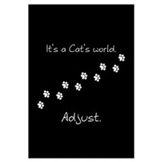 It's a cat's world Framed Print