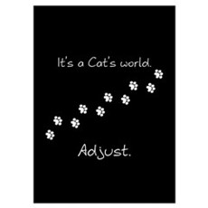 It's a cat's world Poster