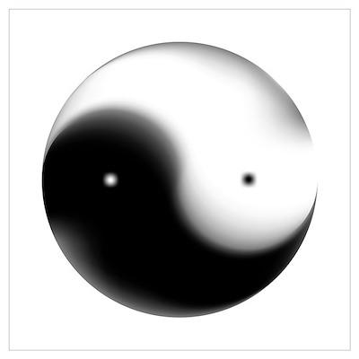 Faded Yin Yang Poster