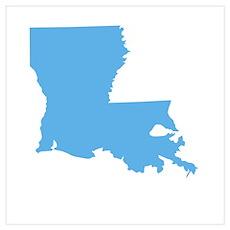 Baby Blue Louisiana Poster