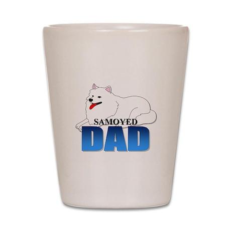Samoyed Dad Shot Glass