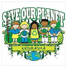 Earth Kids Nebraska Poster