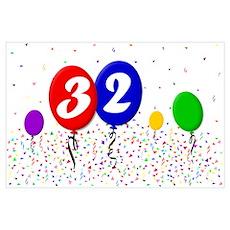 32nd Birthday Poster