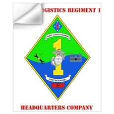 SSI-COMBAT LOGISTICS RGT 1 HQ COY WITH TEXT Small Wall Decal