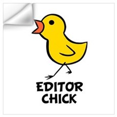 Editor Chick Wall Decal