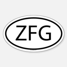 ZFG Oval Decal