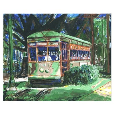 New Orleans Streetcar Painting Print Poster