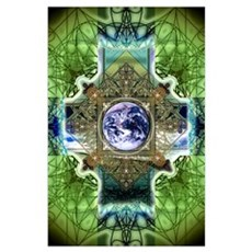 Earth Ascension Peace Mandala Poster