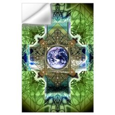Earth Ascension Peace Mandala Wall Decal