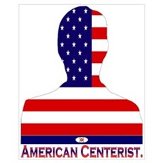 American Centerist Patriot Canvas Art
