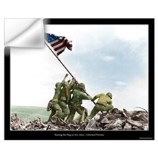 Raising the Flag on Iwo Jima - Colorized (16x20) Wall Decal