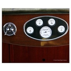 Boat Instrument Panel D1121-026 Poster