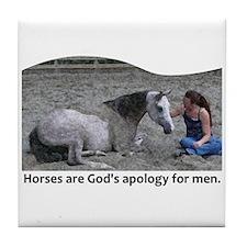 God's Apology Tile Coaster