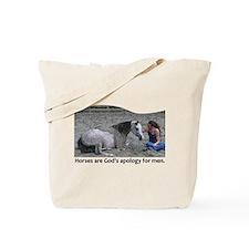 God's Apology Tote Bag