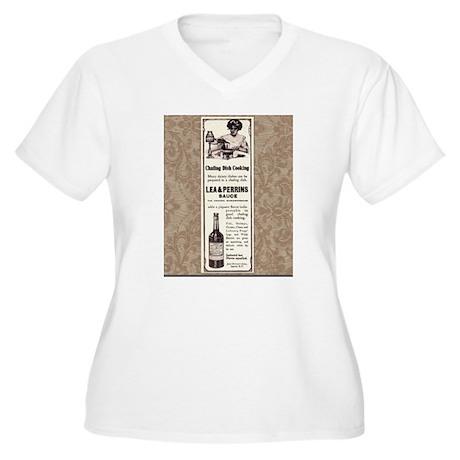 Edwardian Ad Women's Plus Size V-Neck T-Shirt