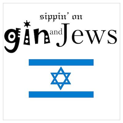 """GinAndJews.com 16"""" x 20"""" Wall Poster"""