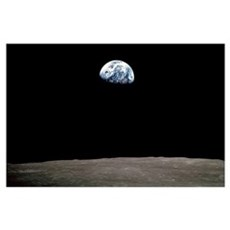 """""""Apollo 8 Earth and Moon"""" Poster"""