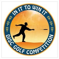Disc Golf Competition Poster