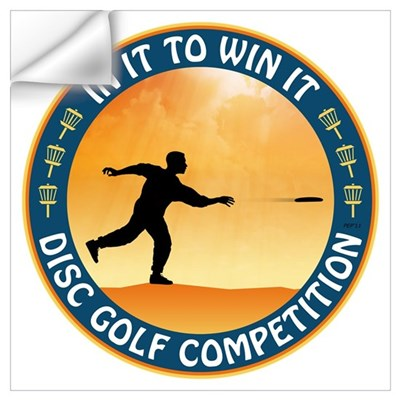 Disc Golf Competition Wall Decal