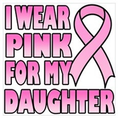I Wear Pink for My Daughter Framed Print