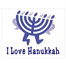 I Love Hanukkah Poster
