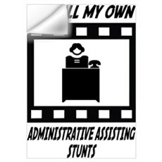 Administrative Assisting Stunts Wall Decal