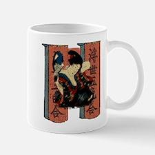 Vintage Japanese Geisha Small Small Mug