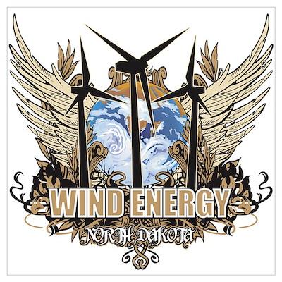 North Dakota Wind Energy Poster