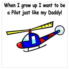 Helicopter Pilot Daddy Canvas Art