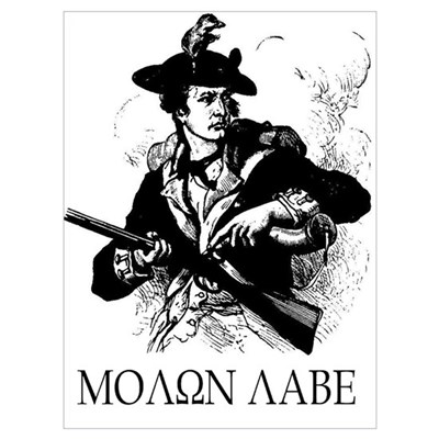 Molon Labe Minuteman Poster