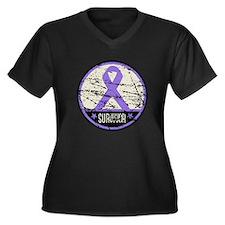 Hodgkins Disease Survivor Women's Plus Size V-Neck