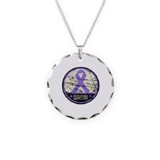 Hodgkins Disease Survivor Necklace Circle Charm