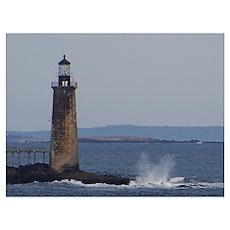 Scenic Ram Island Lighthouse Poster