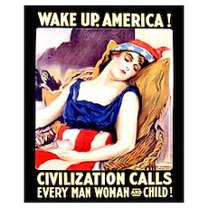 Wake Up America! 16x20 Poster