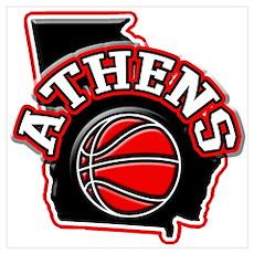 Athens Basketball Poster