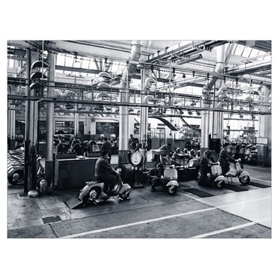 Scooter Factory Framed Print