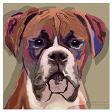 "Boxer Dog , Frame Size 13x16"" Poster"