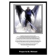 Prayer to St. Michael Poster
