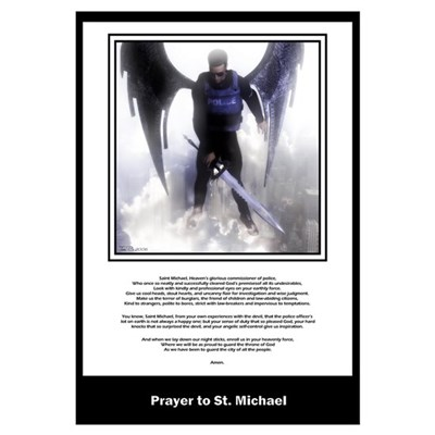 Prayer to St. Michael Framed Print