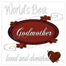 Cherished Godmother Framed Print