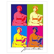Jane Austen Pop Art Poster