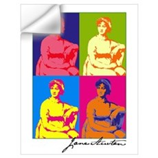 Jane Austen Pop Art Wall Decal