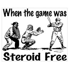 Steroid free baseball Canvas Art