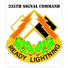 DUI-335th Signal Command with Text r Poster