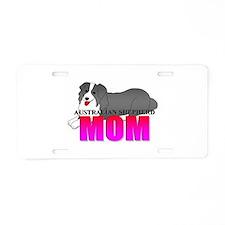 Australian Shepherd Dog Aluminum License Plate